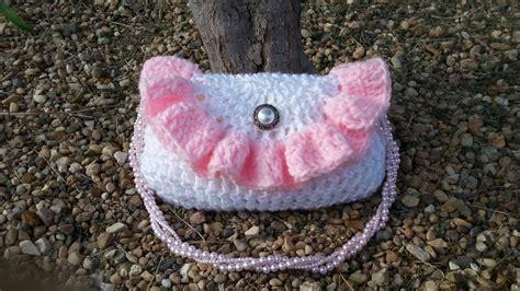 bag pattern youtube crochet purse pretty petite ruffle handbag tutorial