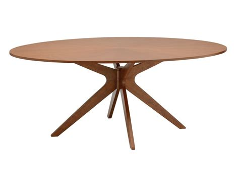 Table Ovale Bois by Table 224 Manger Design Ovale En Ch 234 Ne Chocolat Conan Miliboo