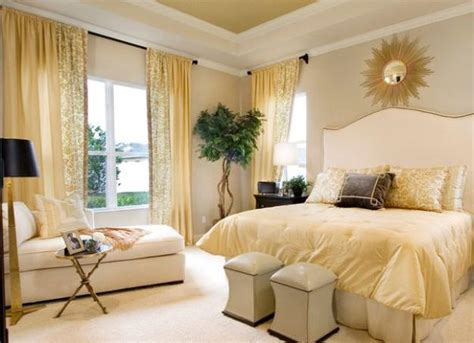 warm yellow  beige bedroom colors modern ideas