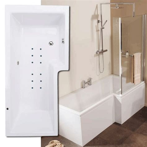 L Shaped Whirlpool Shower Bath whirlpool 1670 x 850 right hand l shaped shower bath with