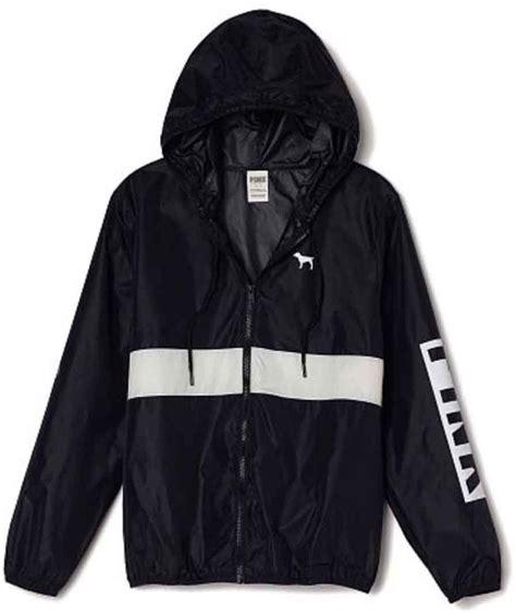 Make Screet Jacket Hoodie nwt m l s secret pink anorak zip black hoodie windbreaker jacket