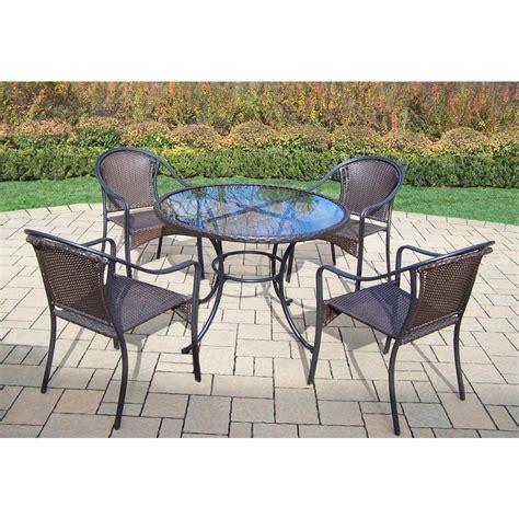 hton bay oak cliff 7 piece metal outdoor dining set hton bay oak cliff 5 piece metal outdoor dining set