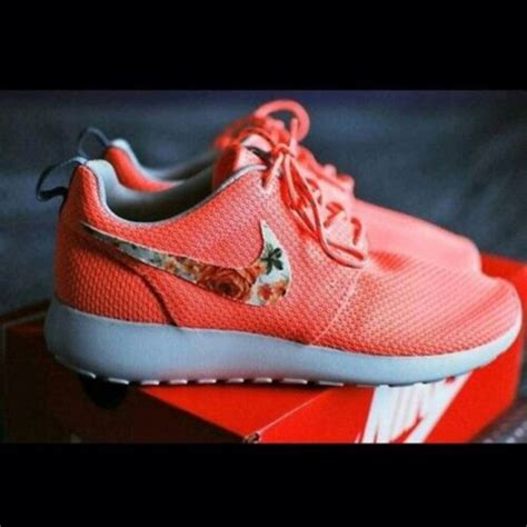 roches shoes shoes green nike flowers pretty nike running shoes