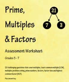 prime factors and multiples assessment worksheet