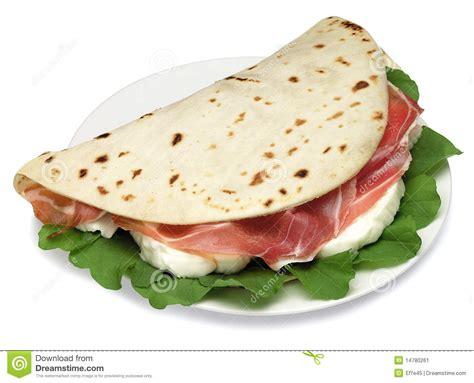Eat In Kitchen Design piadina sandwich stock image image 14780261