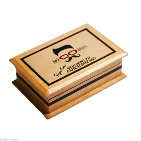 beard care gift set men s signature wooden beard care gift set by mo bro s