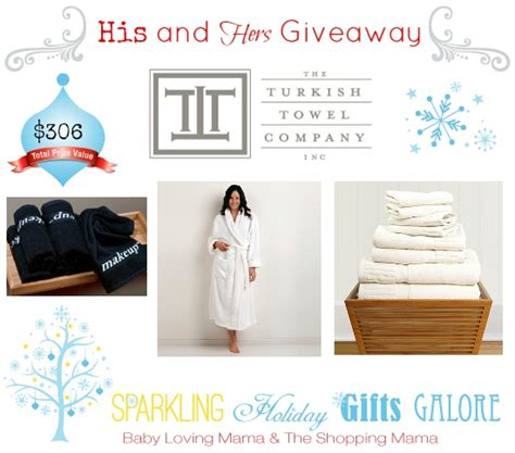sparkling holiday gifts galore his and hers giveaway from