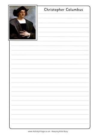 christopher columbus writing paper christopher columbus newspaper writing prompt