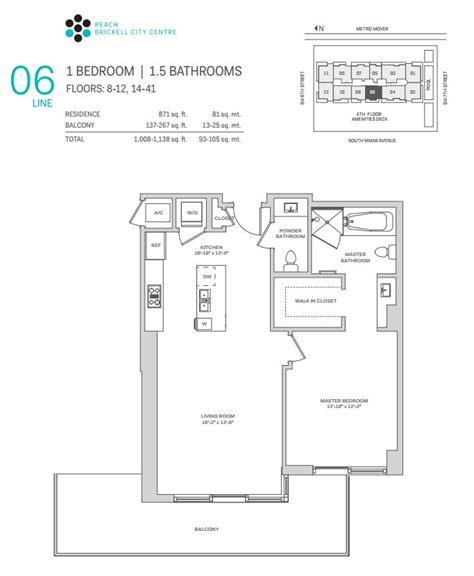 City Center Floor Plan by Brickell City Centre Miami Condo One Sotheby S