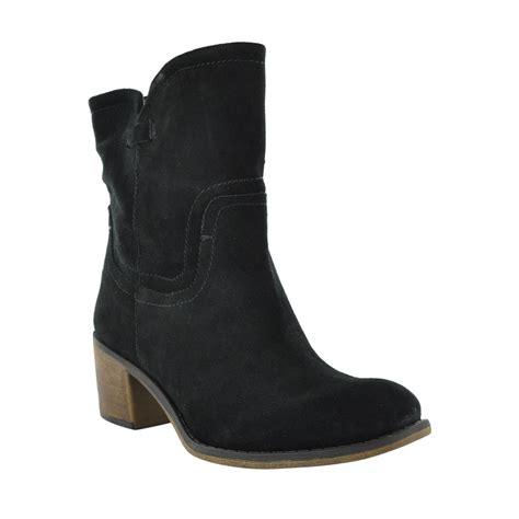 franco sarto mission cowboy black booties boots
