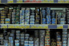 Canned Fish Shelf by Canned Fish Editorial Stock Photo Image 44370003