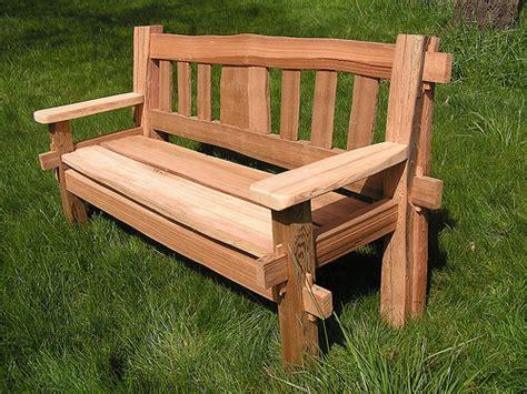 mortise and tenon bench cedar bench cedar sustainable woodwork