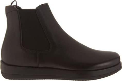 prada wedge chelsea boot in black for lyst
