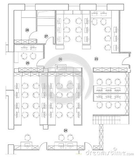 office floor plan icons standard office furniture symbols on floor plans stock vector image 71983544