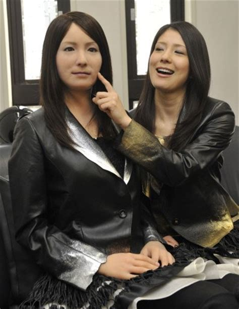japanese android japan unveils humanoid robot that laughs and smiles w