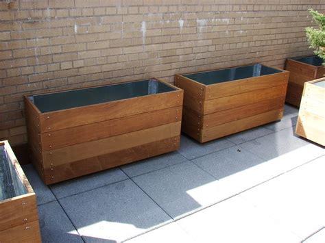 ipe planters for terrace metropolitan garden llc pinterest