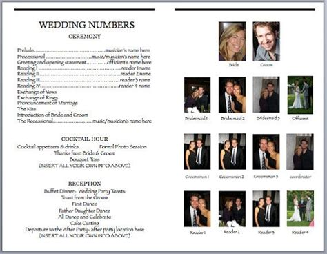 theater program template 30 best images about wedding playbills on