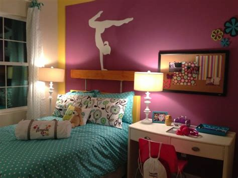 gymnastics themed bedroom pin by melissa canada on gymnastics pinterest