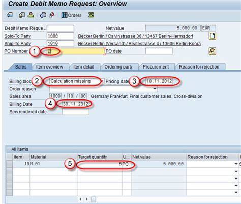 how to create debit memo in sap