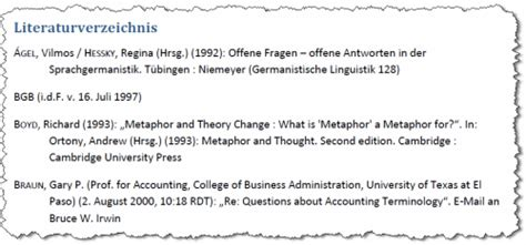 Word Vorlage Xml literaturverzeichnis vorlagen f 252 r word 2007 selbst