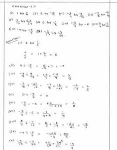 worksheets of maths for class 7 rational numbers