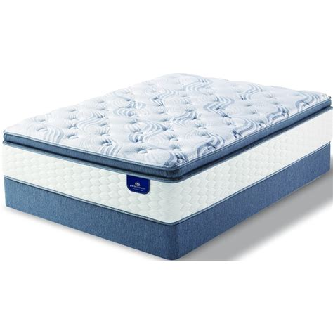 pillow top queen bed serta perfect sleeper coral springs super pillow top