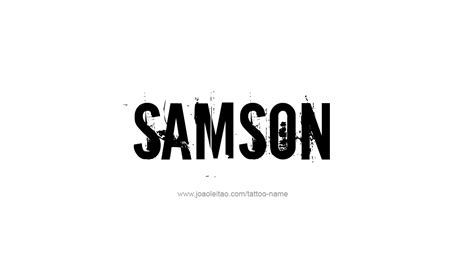 samson tattoo design name samson 06 png