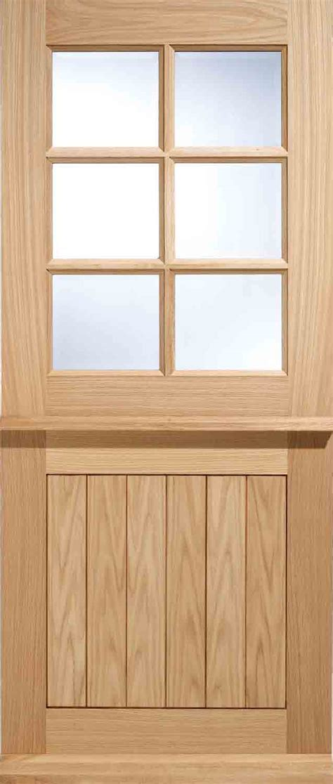 oak external doors stratford 6 stable glazed external oak door