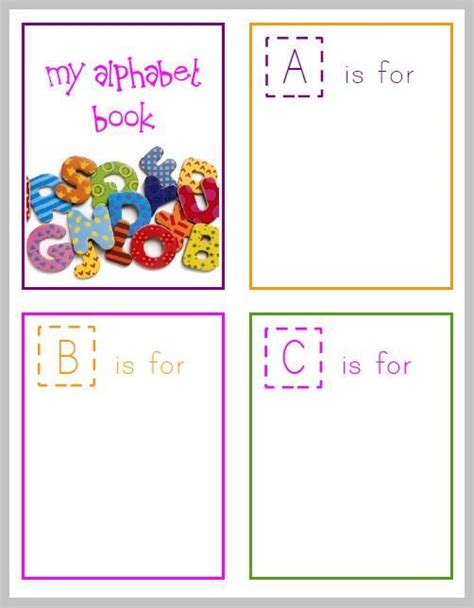 Alphabet Books For Preschoolers Printable free printable alphabet book for preschoolers alphabet