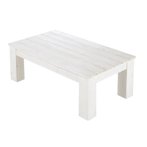 White Outdoor Coffee Table by Wooden Garden Coffee Table In White W 100cm Faro Maisons Du Monde