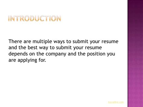 Submit A Resume Meaning by Ways To Submit Your Resume