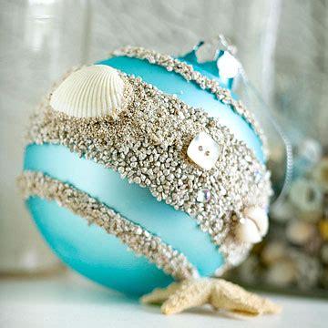 Beach Themed Christmas Tree Ornaments - un adorno navide 241 o con detalles de mar gu 237 a de manualidades