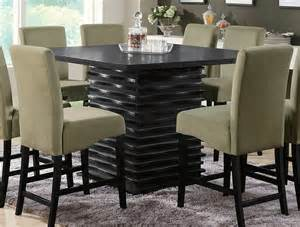 Black Counter Height Dining Table And Chairs Stanton Counter Height Table In Rich Black Dining Tables
