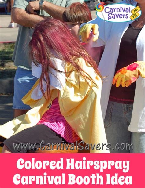 colored hair spray colored hairspray carnival booth carnival activity