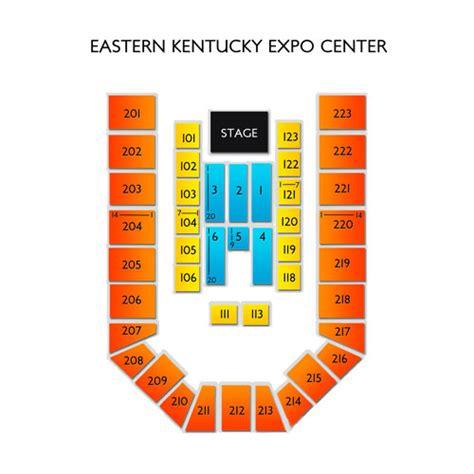 map kentucky expo center eastern kentucky expo center seating chart seats