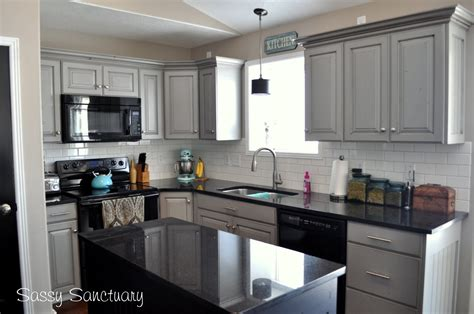 gray cabinets with black countertops light grey kitchen cabinets with black countertops
