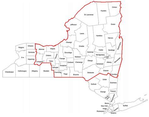 map of upstate new york regional map bni upstate new york business networking