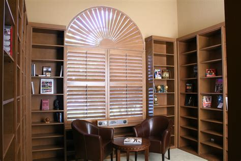arched shutters  blind mice window coverings san diego ca