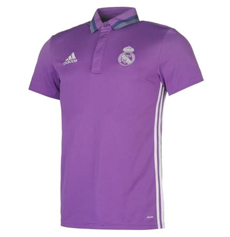 Polo Shirt Real Madrid Bola 2016 2017 real madrid adidas polo shirt purple for only 163 25 38 at merchandisingplaza uk