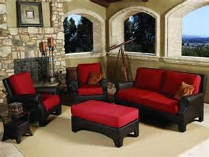 Living Room Conversation Sets Outback Living Santa Barbara Wicker 5 Conversation