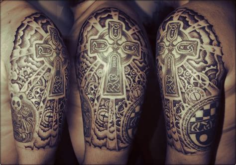 cross tattoos half sleeve celtic images designs