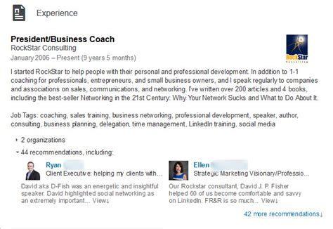 how to your experience and not your resume on linkedin