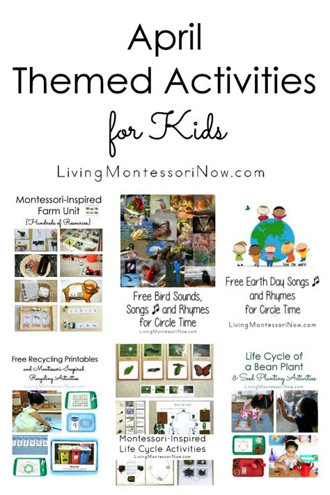 themed events for april living montessori now information and inspiration for