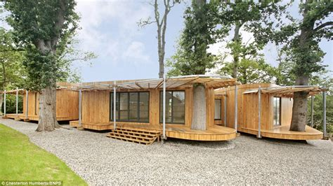 sprawling timber 163 700 000 stilt home built around ancient