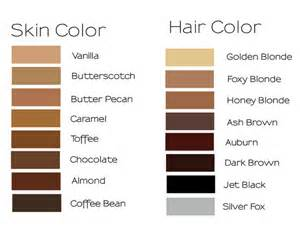 skin color chart color chart displaying 66 skin tones brown hairs