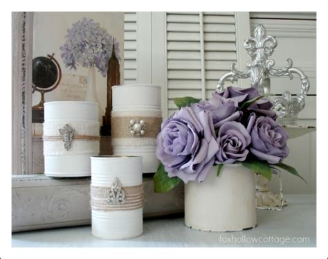 Tin Decor by Repurpose Tin Cans Into Beautiful Decor The Frugal