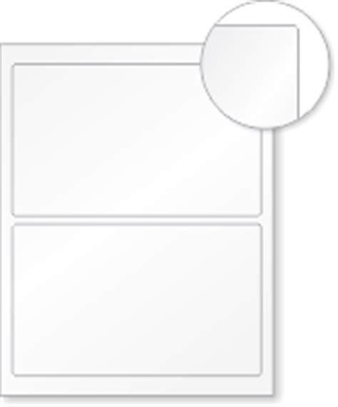 blank printable vinyl laser printable blank vinyl 2 labels sheet 4 75in x 7