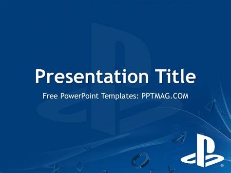 playstation powerpoint template pptmag