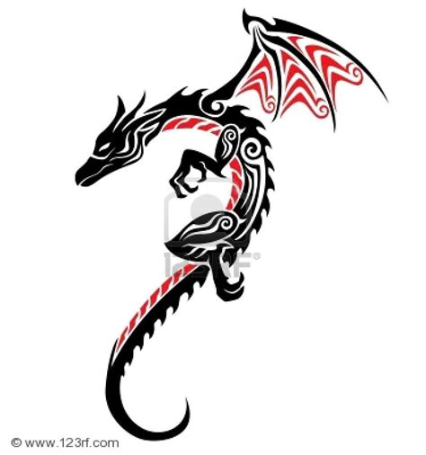 tribal dragon tattoo gallery pin tribal rate my ink pictures