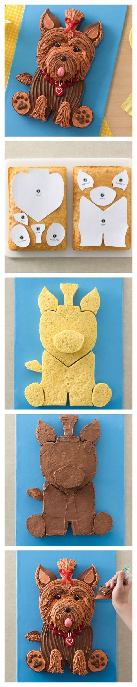 dog cakes yorkie and templates on pinterest